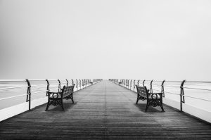 - pier towards the horizon -